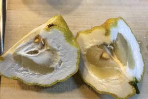 鬼柚子を切ったところ