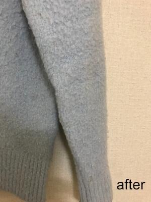 リナビス セーター袖クリーニング後