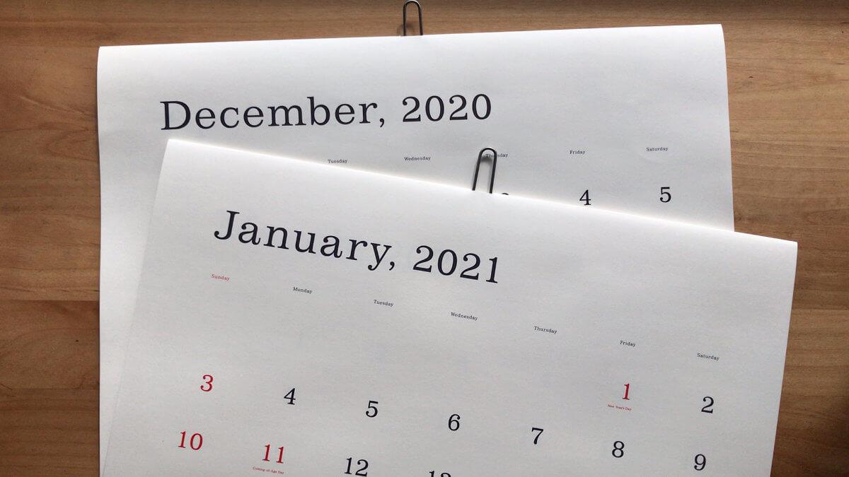 2021年葛西薫カレンダー